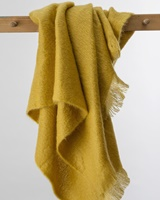 Image for Avoca Handweavers Amber Mohair Throw, Goldenrod