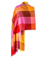 Image for Avoca Handweavers Merino Wool and Cashmere Blend Sunset Gracie Stole, Multicolor