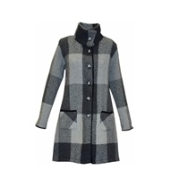 Branigan Weavers Irish Tweed Coat Emma, Donegal Grey