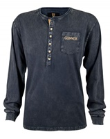 Image for Guinness Classic Washed Black Henley Shirt