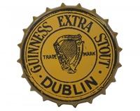 Image for Guinness Gold Vintage Metal Bottle Cap Sign