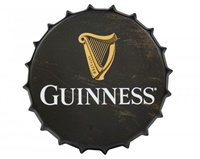 Image for Guinness Black Harp Metal Bottle Cap Sign