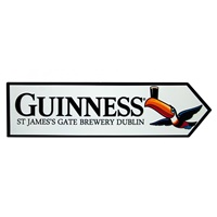 Image for Guinness Toucan St James Gate Road Metal Sign