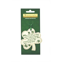 "Image for Shamrock with ""May the Road..."" Irish Blessing Watervale Hanging Decoration"