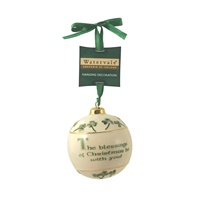 Image for Watervale Hanging Bauble Decoration with Irish Christmas  Blessing