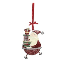 Image for Bailey and Brooke Sparkle Decoration - Santa Holding Gifts
