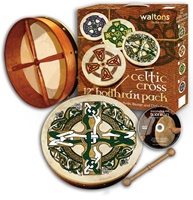 "Image for Waltons 12"" Celtic Cross Design Bodhran Pack"