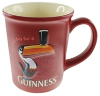 Image for Guinness Large Red Toucan Embossed Mug