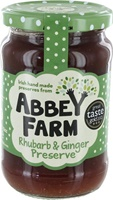 Image for Abbey Farm Rhubarb and Ginger Preserves 340g
