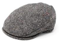 Hanna Vintage Snap Flat Cap, Grey Fleck