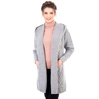 Image for Ladies Classic Fit Long Cardigan with Hood