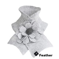Image for Signature Lambswool Floral Collar