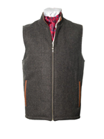 Image for The Balbriggan Irish Tweed Sleeveless Body Warmer Waistcoat - Brown