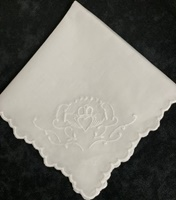 Image for Hand Embroidered Claddagh Hankie