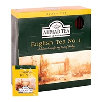 Image for Ahmad English Tea No.1 100 Enveloped Teabags