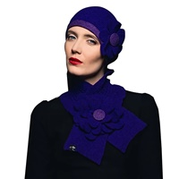 Image for Aine McConnell Signature Lambswool Floral Beanie