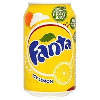 Image for Fanta Icy Lemon Flavoured Soft Drink Can 330 ml