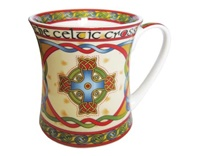 Image for Celtic Weave Celtic Cross China Mug-RED