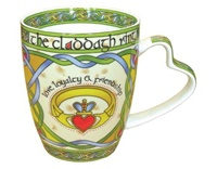 Image for Irish Weave Claddagh Ring China Mug
