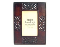 Image for 4 X 6 Hand-Carved Wooden Photo Frame