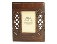 Image for 3.5 X 5 Hand-Carved Wooden Photo Frame