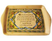 Image for Irish Weave Irish Blessing Melamine Tea Tray