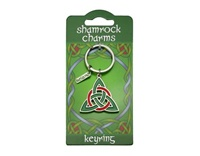 Image for Shamrock Charms Trinity Knot Keyring