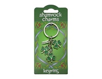 Image for Three Leafed Shamrock Charms Keyring