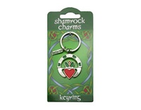 Image for Shamrock Charms Claddagh Ring Keyring