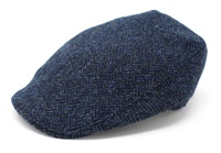 Image for Hanna Donegal Tweed Touring Cap: Blue Herringbone
