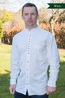 Image for Irish Civilian Heritage Linen Grandfather Shirt , White Linen