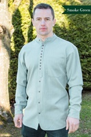 Image for Irish Civilian Heritage Linen Grandfather Shirt, Smoke Green