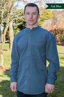 Image for Irish Civilian Heritage Linen Grandfather Shirt, Ink