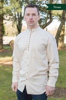 Image for Irish Civilian Heritage Linen Grandfather Shirt, Stone