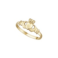 Image for 14K Yellow Gold Mini Claddagh Ring