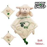 Image for Irish Sheep Velour Baby Comforter with Shamrock