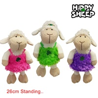 Image for Plush Irish Hippy Sheep Toy with Coloured Fur Dress
