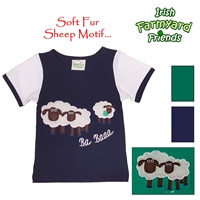 Image for Irish Baby Boy T-Shirt with Soft Fur Sheep, Navy