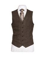 Image for Oscar Wilde Single Breasted Hopsack Tweed Waistcoat