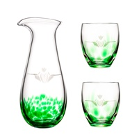 Image for Irish Handmade Glass Claddagh Carafe and Tumblers Set