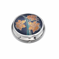 Image for Sea Gems Daffodil Pillbox, Purple/Yellow