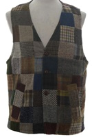 Image for Irish Tweed Patchwork Waistcoat by Hanna Hats Donegal