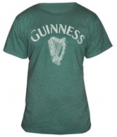 Image for Guinness Vintage Heathered Harp Tee, Green