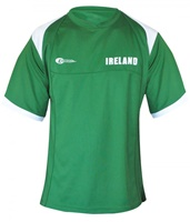Image for Croker Sports Performance Top, Green and White