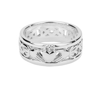 Image for Keith Jack Sterling Silver Oxidized Claddagh Band