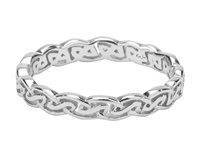 Image for Keith Jack Sterling Silver Eternity Knot Tay Narrow Celtic Band