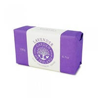 Image for Irish Sweet Lavender Linen Wrapped Soap by Garden of Ireland