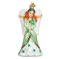 Image for Irish Angel Christmas Ornament