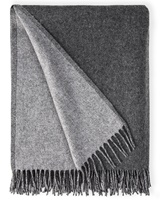 Image for Avoca Handweavers Stella Cashmere Blend Throw, Black/Grey