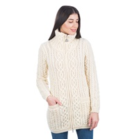Image for Soft Touch Ladies Aran Zip Cardigan
